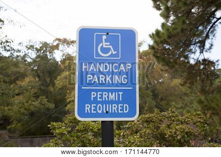 Handicap Parking Sign - Blue Accessible Parking Sign