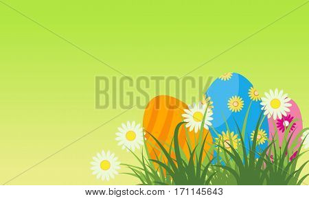 Easter egg greeting card vector flat collection stock