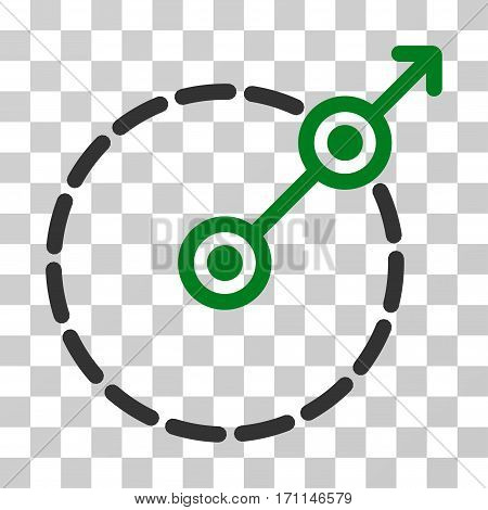 Round Area Exit icon. Vector illustration style is flat iconic bicolor symbol green and gray colors transparent background. Designed for web and software interfaces.