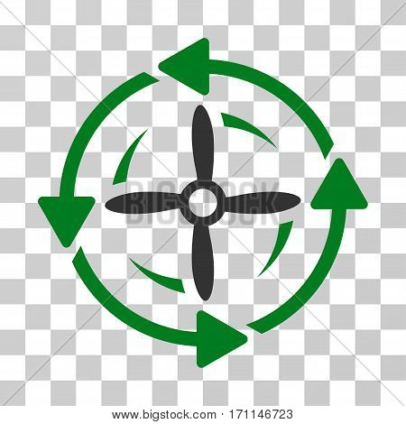 Screw Rotation icon. Vector illustration style is flat iconic bicolor symbol green and gray colors transparent background. Designed for web and software interfaces.