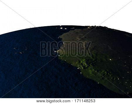 Gambia From Space At Night