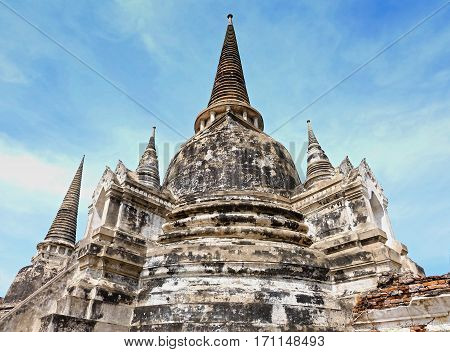Stupa in ancient town of Ayutthaya, Thailand