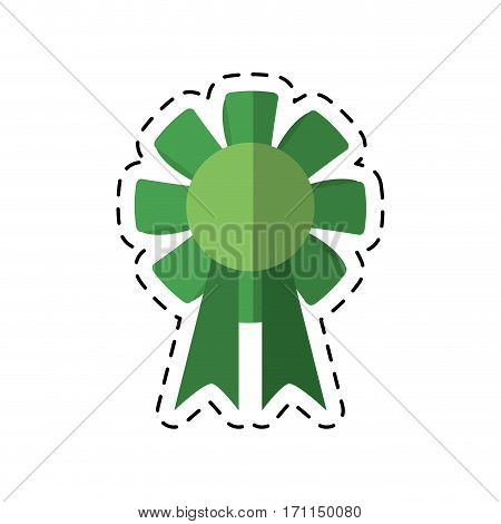 cartoon st patricks day rosette ornament icon vector illustration eps 10