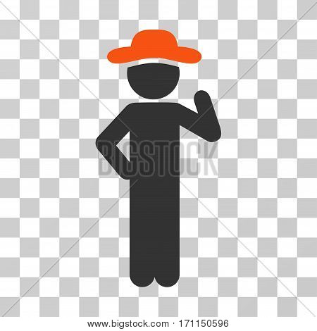 Gentleman Proposal icon. Vector illustration style is flat iconic bicolor symbol orange and gray colors transparent background. Designed for web and software interfaces.