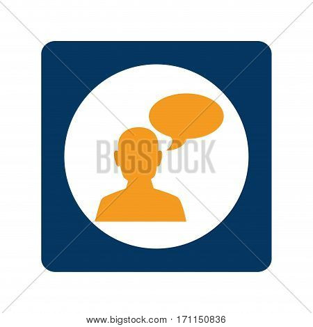 square teamwork for bussines in meeting and oval callout vector illustration