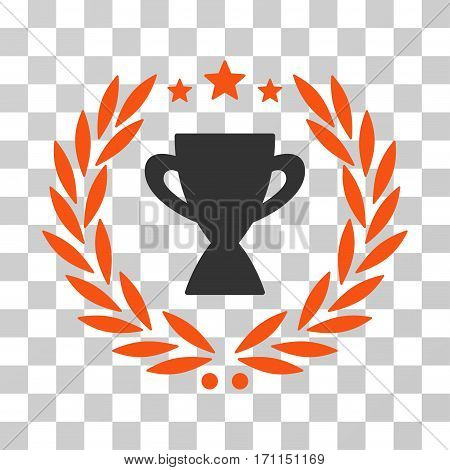 Glory Emblem icon. Vector illustration style is flat iconic bicolor symbol orange and gray colors transparent background. Designed for web and software interfaces.