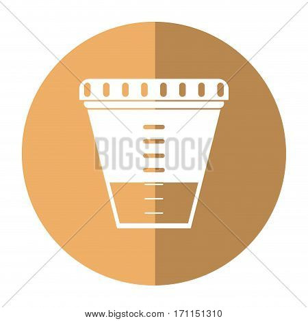 container sample laboratory icon shadow vector illustration eps 10