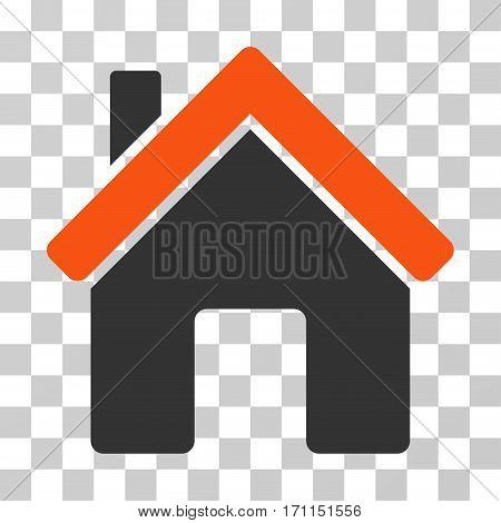 House icon. Vector illustration style is flat iconic bicolor symbol orange and gray colors transparent background. Designed for web and software interfaces.