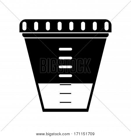 container sample laboratory icon pictogram vector illustration eps 10
