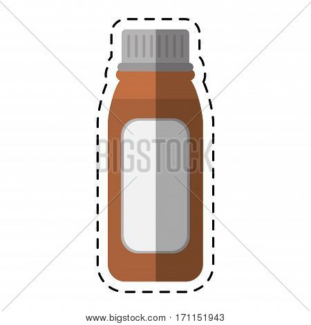 cartoon bottle medicine healhy care icon vector illustration eps 10