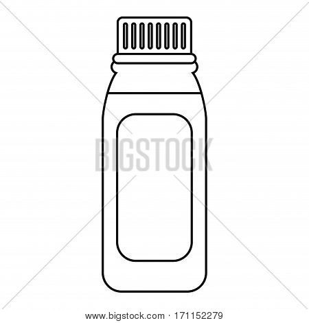 bottle medicine healhy care icon thin line vector illustration eps 10