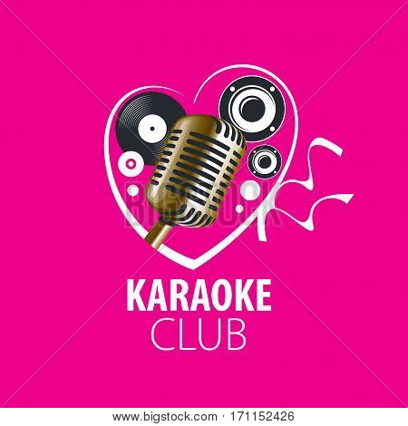 logo design template for karaoke. Vector illustration of icon
