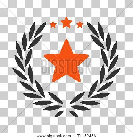 Proud Emblem icon. Vector illustration style is flat iconic bicolor symbol orange and gray colors transparent background. Designed for web and software interfaces.