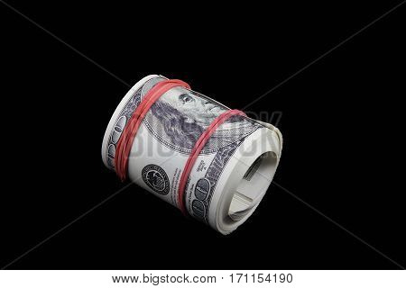 dollars on a black background, black, notes, Franklin, person, business, money,