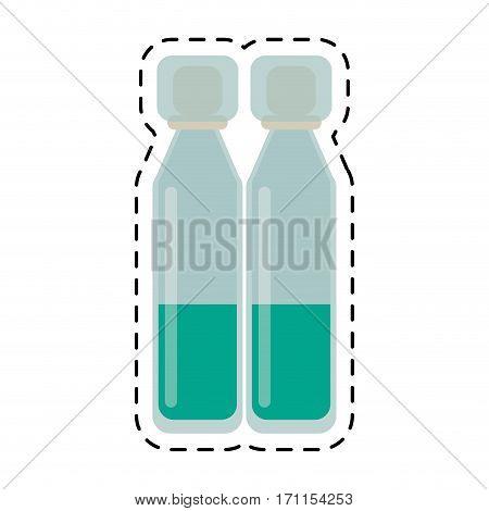 cartoon bottle vials medical healthy vector illustration eps 10