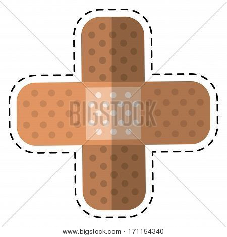 cartoon medical plaster bandage adhesive vector illustration eps 10