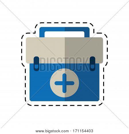 cartoon first aid kit emergency equipment vector illustration eps 10