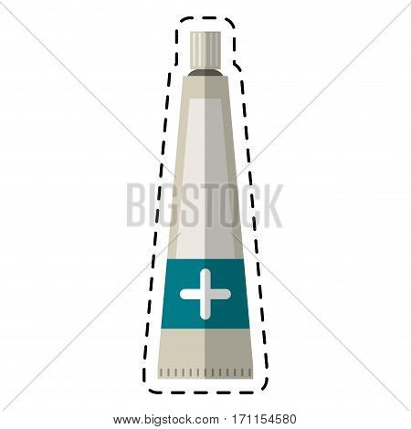 cartoon ointment cream tube medicine vector illustration eps 10