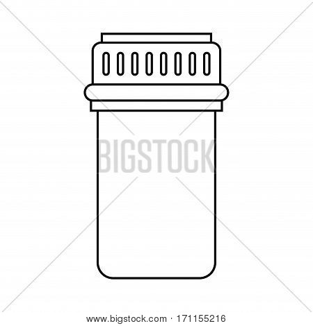 container capsule medicine icon thin line vector illustration eps 10