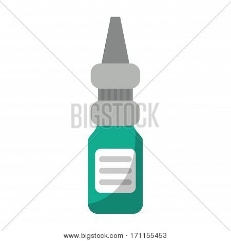 eye drop bottle medicine vector illustration eps 10