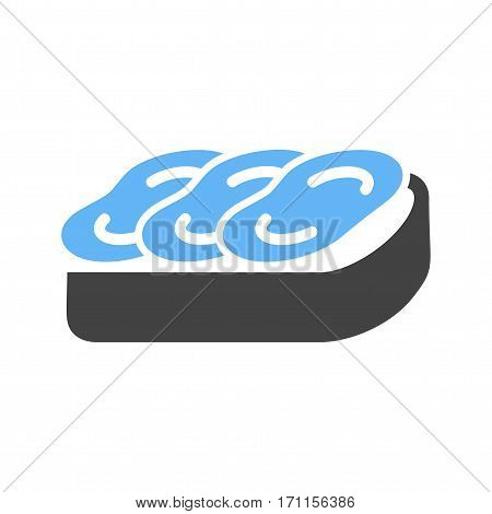 Bruschetta, diet, mediterranean icon vector image. Can also be used for european cuisine. Suitable for mobile apps, web apps and print media.