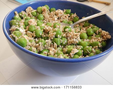Detail Of A Vegetable Salad With Green Peas