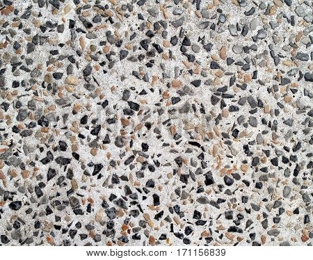 cement mixed small gravel stone wall or floor texture background