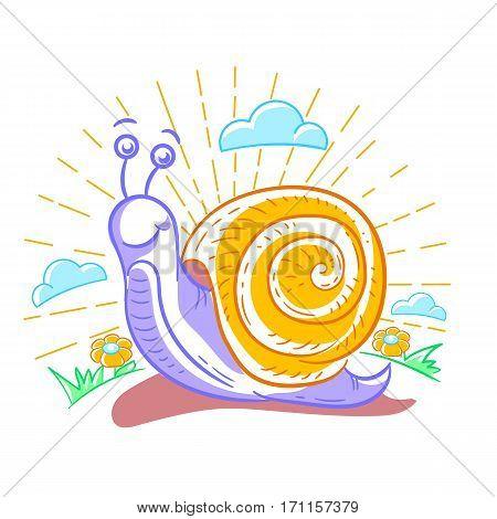 Illustration Of A Snail