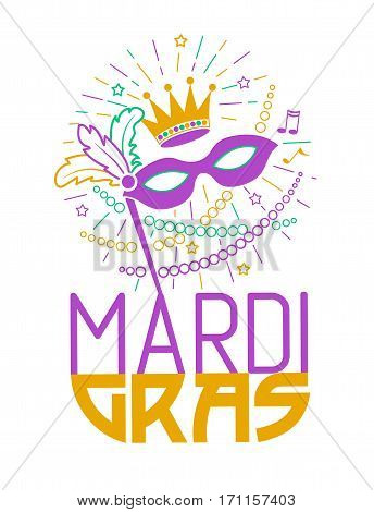 Mardi Gras Party Mask  Greeting Card.