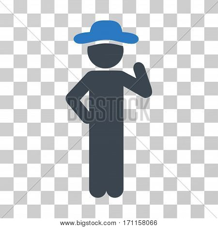 Gentleman Proposal icon. Vector illustration style is flat iconic bicolor symbol smooth blue colors transparent background. Designed for web and software interfaces.
