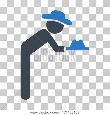 Gentleman Servant icon. Vector illustration style is flat iconic bicolor symbol smooth blue colors transparent background. Designed for web and software interfaces.