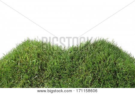 Grassy Twin Peeks Hills Isolated on White Background