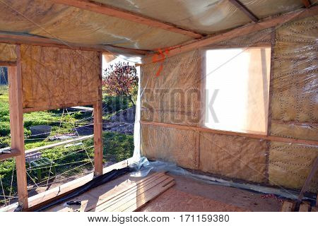 farm house room insulation with rockwool material