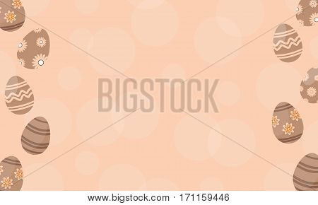 Baackground easter egg vector flat collection stock