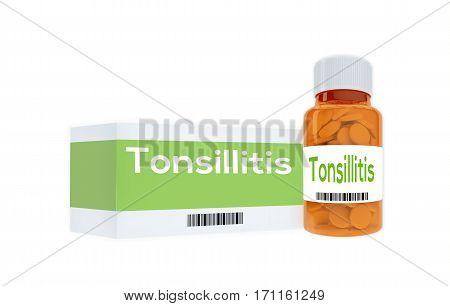 Tonsillitis - Medical Concept