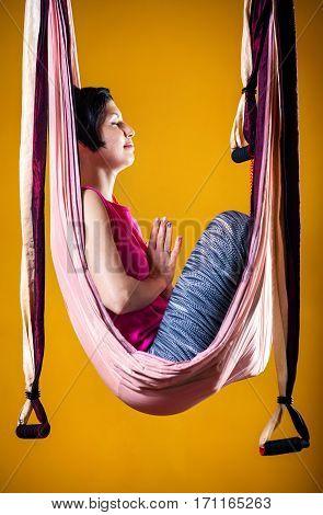 Antigravity Yoga In Hammock