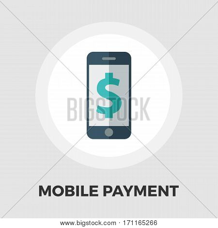 Mobile payment icon vector. Flat icon isolated on the white background. Editable EPS file. Vector illustration.