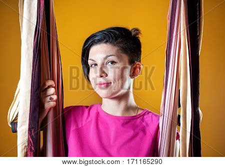 Antigravity Yoga Teacher In Hammock