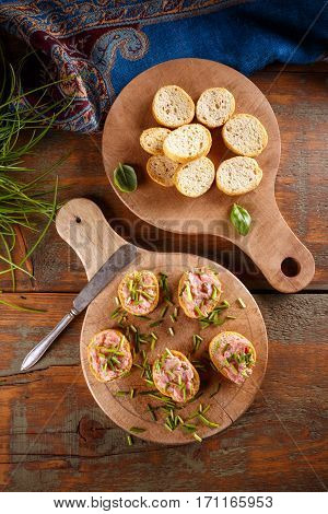 Pate With Bruschetta