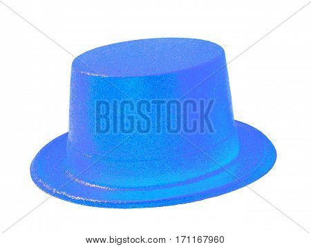 Sky blue party hat isolated on the white background clipping path.