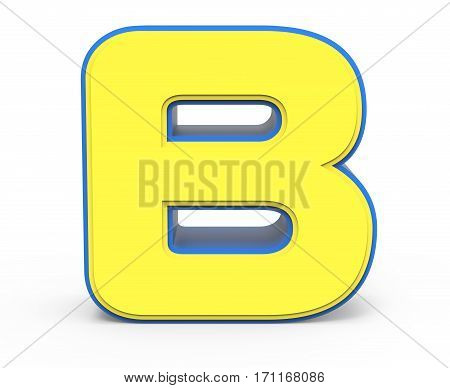 Cute Yellow Letter B