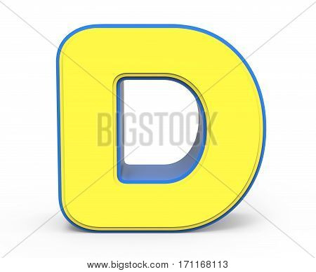 Cute Yellow Letter D