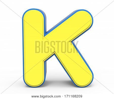 Cute Yellow Letter K