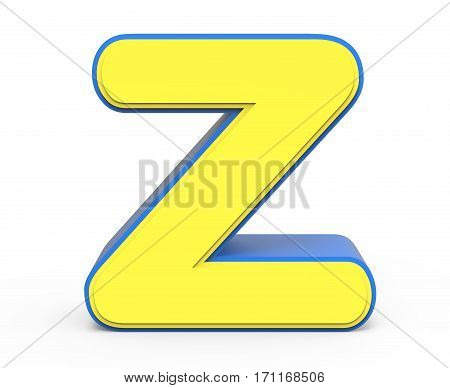 Cute Yellow Letter Z