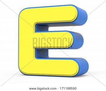Cute Yellow Letter E