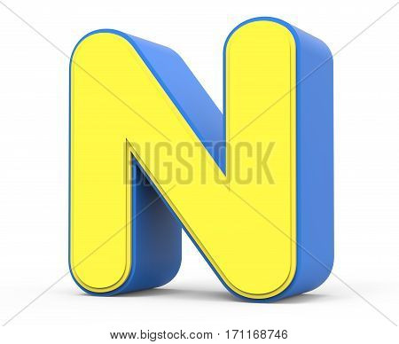 Cute Yellow Letter N