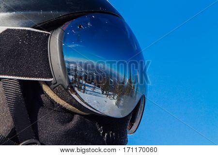Beautiful Reflection In Ski Glasses