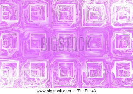 Abstract Grunge Texture With Distorted Shapes. Fractal Background In Pink Colors. Digital Art. 3D Re