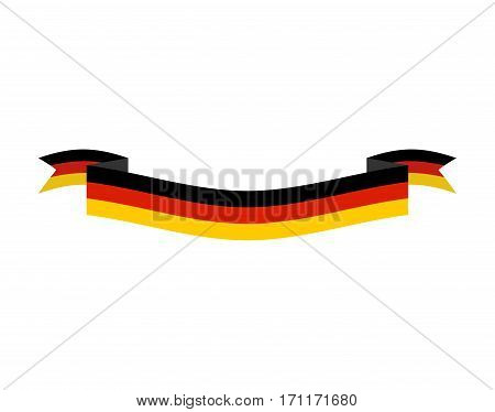 Germany Flag Isolated. German Ribbon Banner. State Symbol