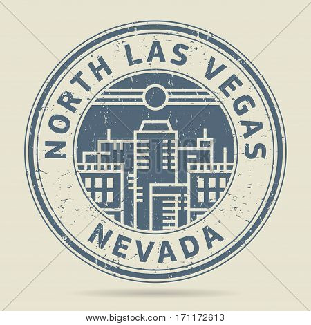 Grunge rubber stamp or label with text North Las Vegas Nevada written inside vector illustration